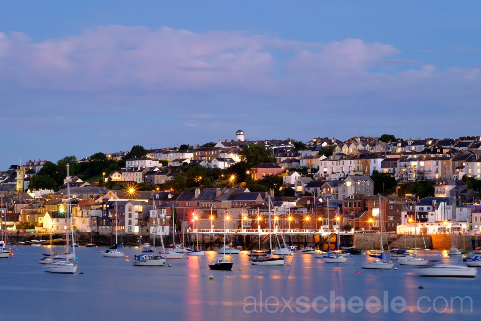 Falmouth Harbour At Midsummer Twilight