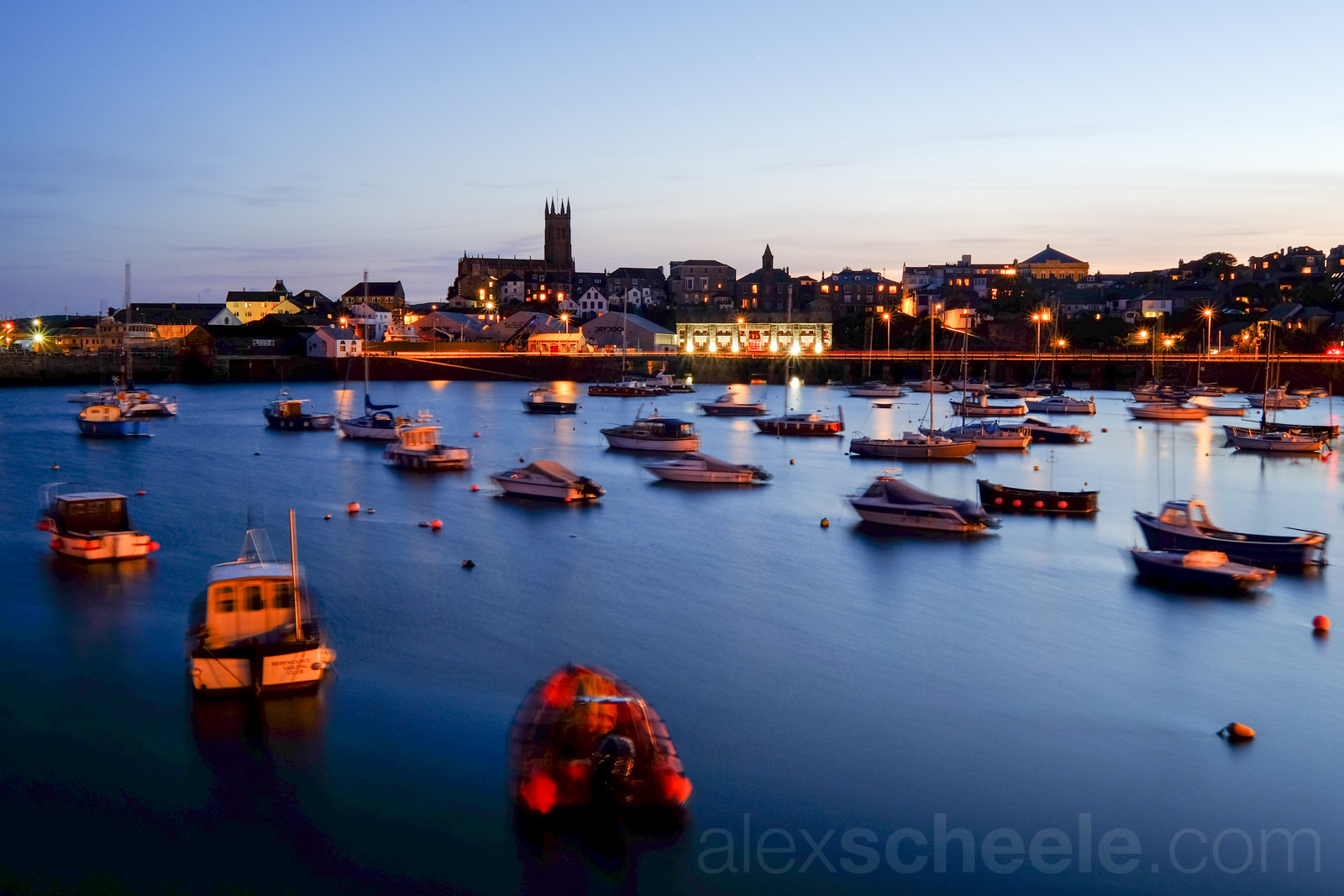 Penzance Harbour at twilight
