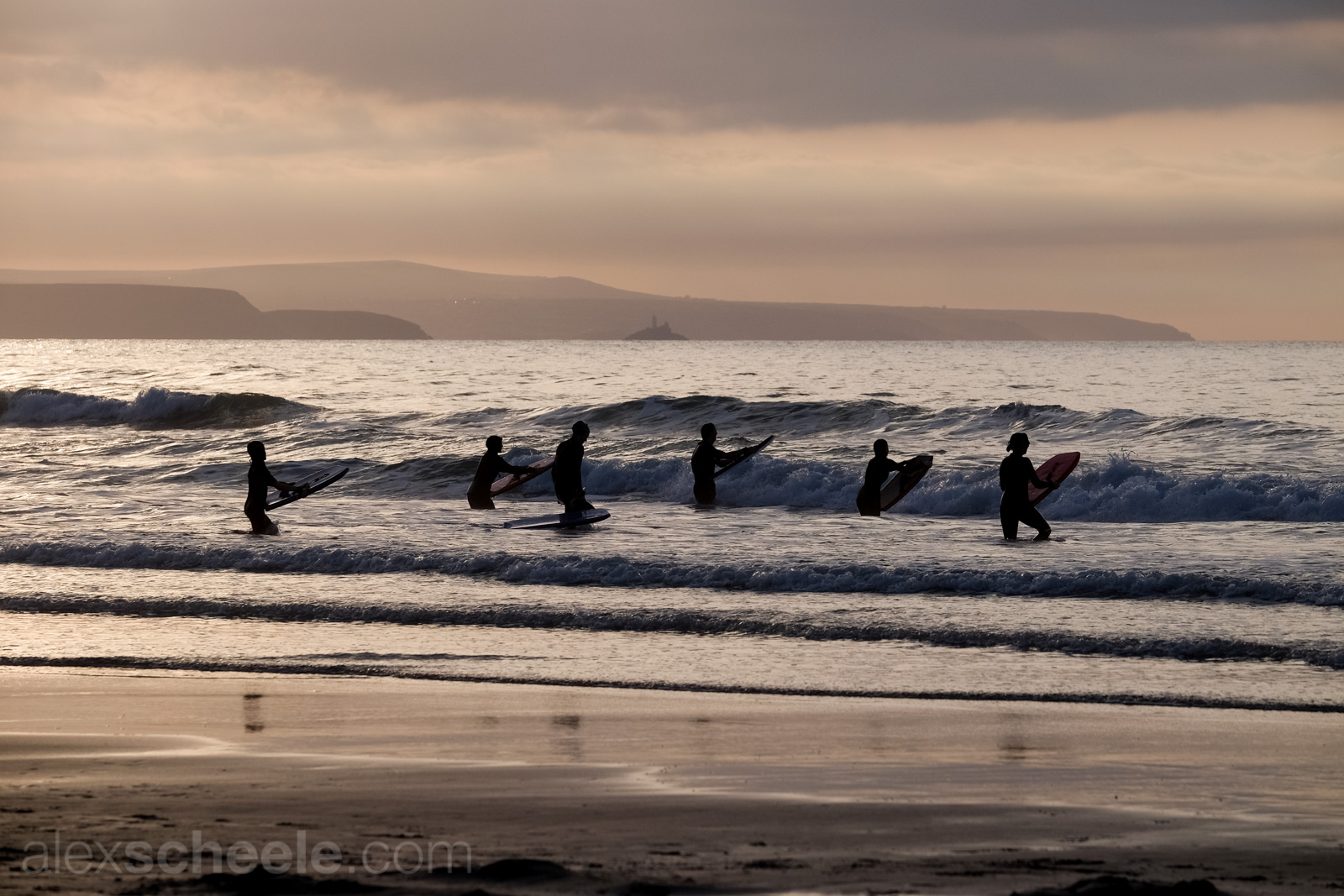 Balmy Autumn Sunset Bodyboarders